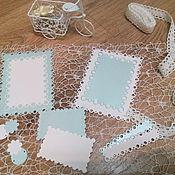Материалы для творчества handmade. Livemaster - original item Cutting scrapbooking Frames, tags, pearls, designer cardboard. Handmade.