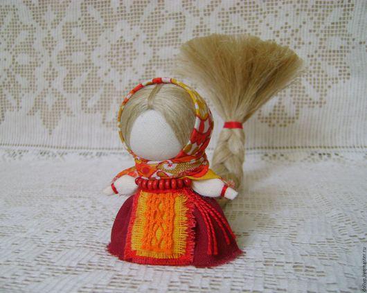 """Народные куклы ручной работы. Ярмарка Мастеров - ручная работа. Купить Куколка на счастье """"Любавушка"""". Handmade. Оранжевый, кукла на счастье"""