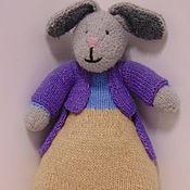 Мягкие игрушки ручной работы. Ярмарка Мастеров - ручная работа Вязаный кролик. Handmade.