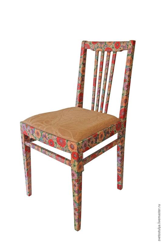 """Мебель ручной работы. Ярмарка Мастеров - ручная работа. Купить Стул """"Розетта"""". Handmade. Бежевый, Декупаж, стул"""