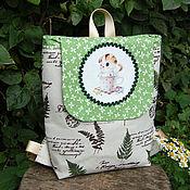 Сумки и аксессуары handmade. Livemaster - original item Children`s backpack with a kitten. Handmade.