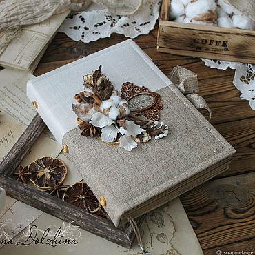 Stationery handmade. Livemaster - original item Book culinary c delimiters vintage beige flowers lace. Handmade.