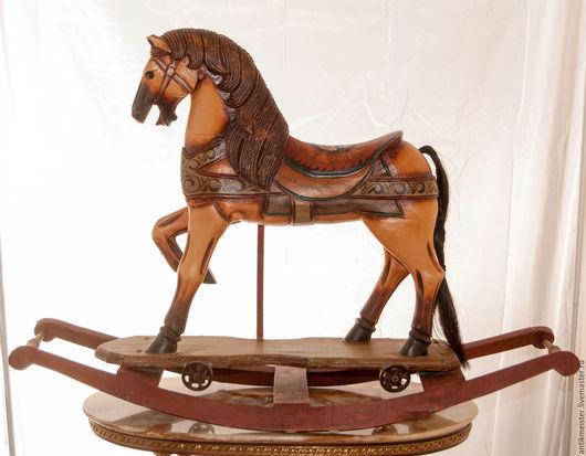 Винтажные предметы интерьера. Ярмарка Мастеров - ручная работа. Купить Карусельная лошадка качалка большая Новая жизнь деревянная ностальгия. Handmade.