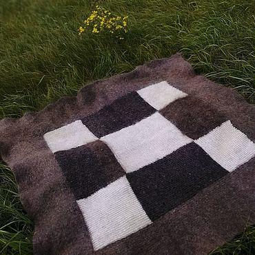 Текстиль ручной работы. Ярмарка Мастеров - ручная работа Плед пуховый классический малый. Handmade.