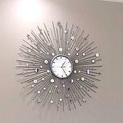 """Для дома и интерьера ручной работы. Ярмарка Мастеров - ручная работа Настенные часы """"Зазеркалье-75"""". Handmade."""