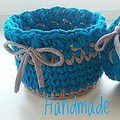 Для дома и интерьера ручной работы. Ярмарка Мастеров - ручная работа Набор корзин из трикотажной пряжи. Handmade.