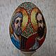 Яйца ручной работы. Ярмарка Мастеров - ручная работа. Купить Икона Св.Апостолы Петр и Павел. Handmade. Бисер, икона