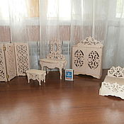 Куклы и игрушки handmade. Livemaster - original item Doll furniture for dolls 15 cm. set. Handmade.