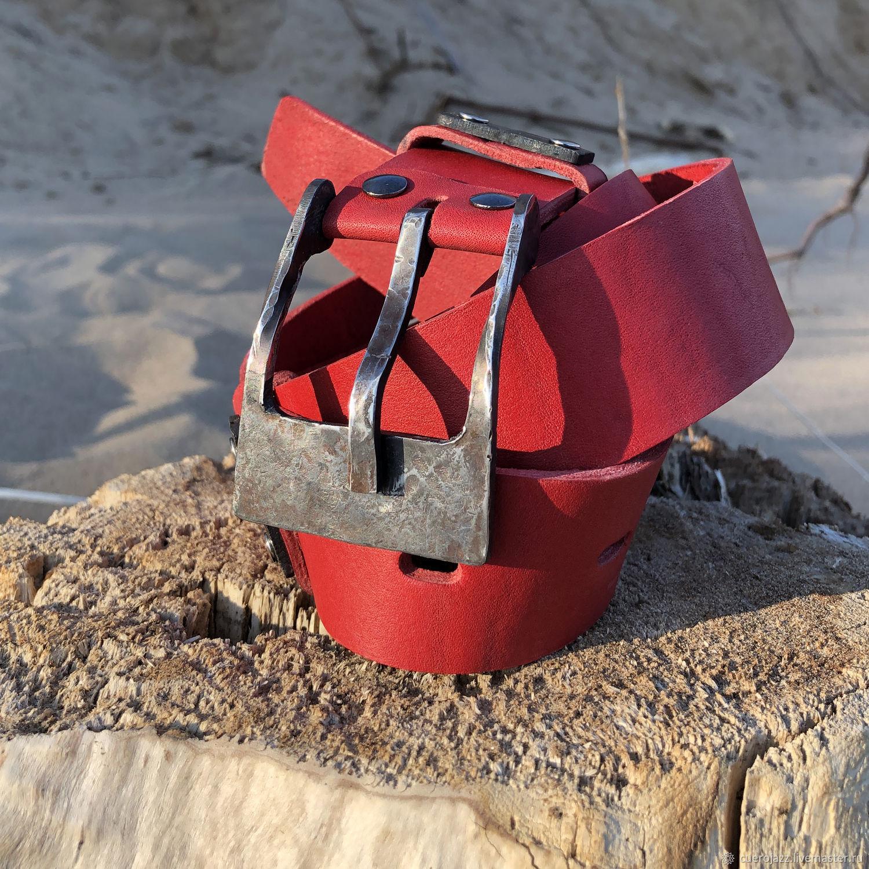 Кожаный ремень с кованой пряжкой, Ремни, Тольятти,  Фото №1