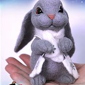 Куклы и игрушки ручной работы. Ярмарка Мастеров - ручная работа Зайка серенький. Handmade.