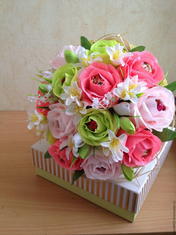 Заказать готовый букет из конфет где можно купить дешовые розы