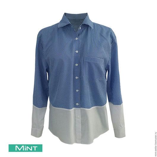 Блузки ручной работы. Ярмарка Мастеров - ручная работа. Купить Женская рубашка. Handmade. Комбинированный, рубашка женская, рубашка в офис