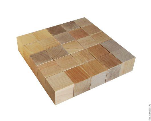 Развивающие игрушки ручной работы. Ярмарка Мастеров - ручная работа. Купить Кубики деревянные неокрашенные, Детский деревянный конструктор. Handmade.