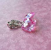 Украшения handmade. Livemaster - original item Silver earrings Blooming peony pink earrings pink Topaz. Handmade.