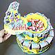 Кулинарные сувениры ручной работы. Торт из соков и Барни в школу садик для девочки мальчика. Ника Окунева 'ZEFIRKI'. Ярмарка Мастеров.