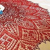 Русский стиль ручной работы. Ярмарка Мастеров - ручная работа шаль Малиновое варенье. Handmade.