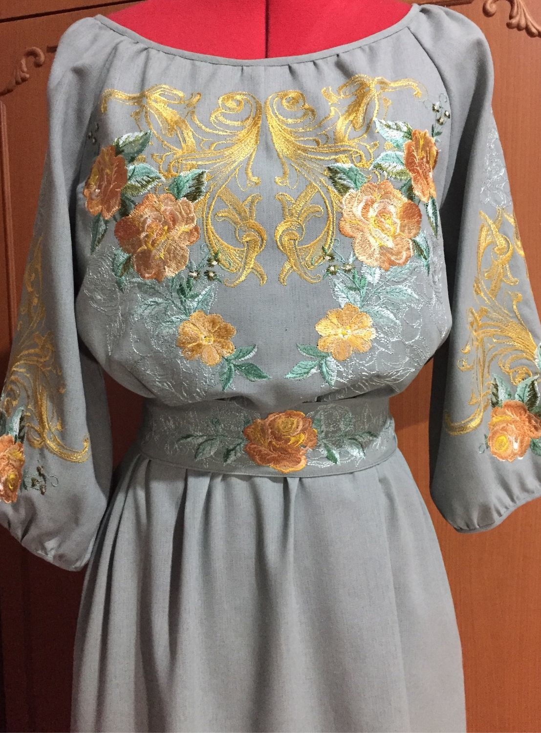 fe874859d5b6 Dresses handmade. Livemaster - handmade. Buy Embroidered dress 'Autumn  roses' ZHP3- ...