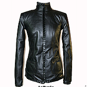 Одежда handmade. Livemaster - original item Genuine leather jacket with ruffles. Handmade.