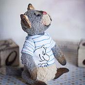 Куклы и игрушки ручной работы. Ярмарка Мастеров - ручная работа Тедди Котик Тимпо. Handmade.