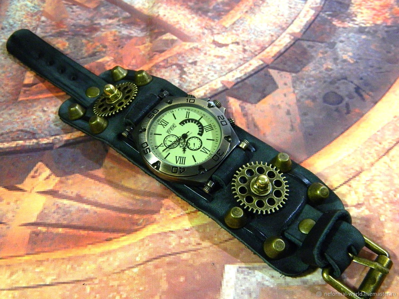 STEAMPUNK BRASS GEAR ONE WRIST WATCH', Watches, Saratov,  Фото №1