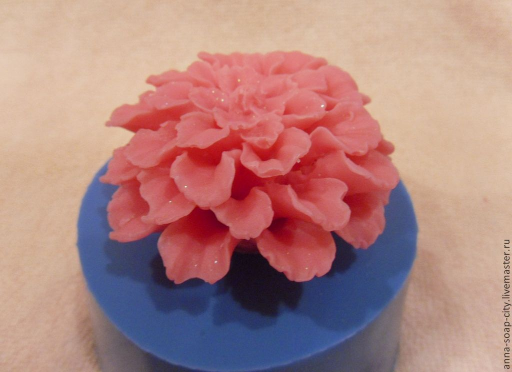 Silicone mold for soap and candles ' Zinnia', Form, Arkhangelsk,  Фото №1