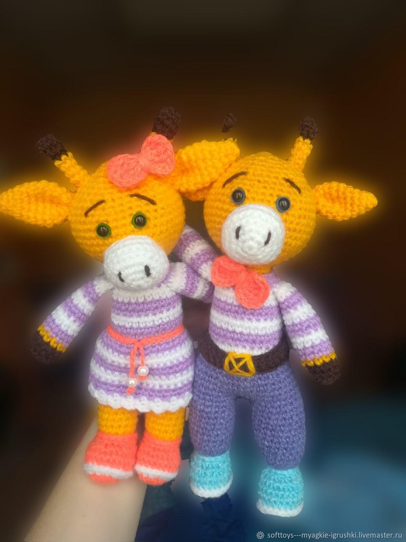 Мягкие вязаные игрушки Жирафики, Мягкие игрушки, Санкт-Петербург,  Фото №1