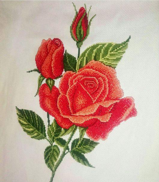 Картины цветов ручной работы. Ярмарка Мастеров - ручная работа. Купить Розы. Handmade. Вышивка, вышивка крестиком, розы