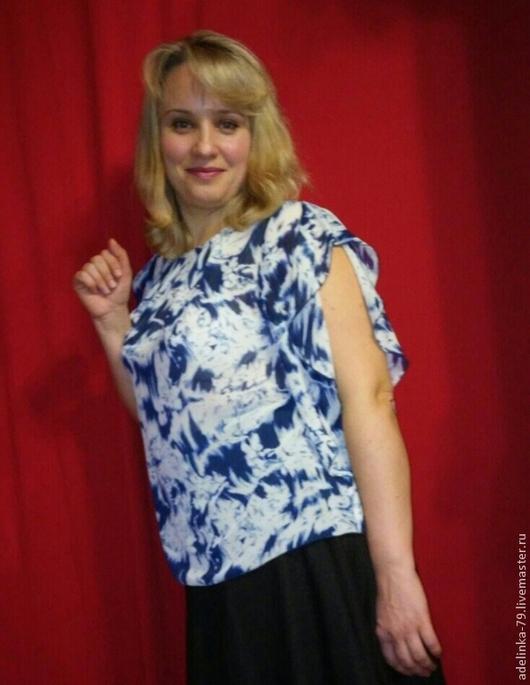 Блузки ручной работы. Ярмарка Мастеров - ручная работа. Купить Блуза летняя.. Handmade. Разноцветный, шифон, стильная модель