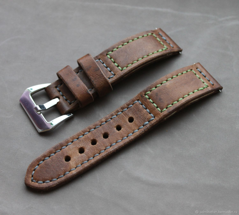 VINTAGE !  Hand made watch strap 24 mm / Apple Watch, Watch Straps, Izhevsk,  Фото №1