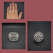 Украшения handmade. Livemaster - original item Ring fishnet. Silver Ring Fashionable.. Handmade.