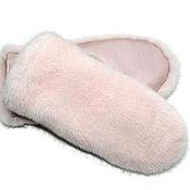 Аксессуары handmade. Livemaster - original item Mitten made of mink fur, soft pink. Handmade.