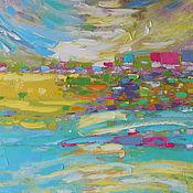 """Картины и панно ручной работы. Ярмарка Мастеров - ручная работа """"Пасхальное утро"""" картина маслом мастихином пейзаж. Handmade."""