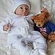 """Для новорожденных, ручной работы. Ярмарка Мастеров - ручная работа. Купить Комбинезон-платье-ползунки  """"Фигуристка"""". Handmade. Белый"""