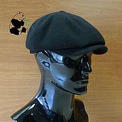 Аксессуары handmade. Livemaster - original item Newsboy cap mens. Textile soft cap cashmere. black. Handmade.