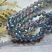 Материалы для творчества handmade. Livemaster - original item Crystal beads ball Blue-purple 6 mm. Handmade.