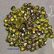 Материалы для творчества handmade. Livemaster - original item 25pcs spacer Beads 4mm C50230 Czech Fire Polished beads. Handmade.