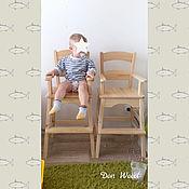 Стулья ручной работы. Ярмарка Мастеров - ручная работа Высокий детский стул с подлокотниками (лак). Handmade.