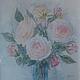 """Картины цветов ручной работы. Заказать Картина акварель """"Чайная роза"""". Александра. Ярмарка Мастеров. Цветы акварелью, розы аквареь"""