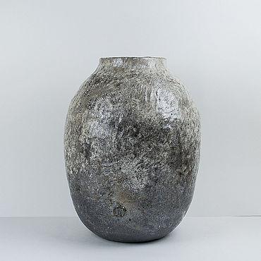Для дома и интерьера ручной работы. Ярмарка Мастеров - ручная работа Вазы: Интерьерная ваза с фактурой. Handmade.