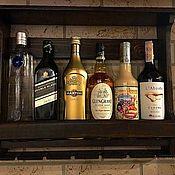 Бокалы ручной работы. Ярмарка Мастеров - ручная работа Полка для вина и бокалов. Handmade.
