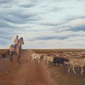 Картины и панно ручной работы. Ярмарка Мастеров - ручная работа Пастух. Handmade.