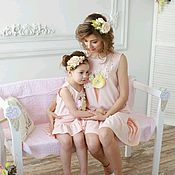 Одежда handmade. Livemaster - original item Dresses Familily print. The same dress the mother and daughter. familylook. Handmade.