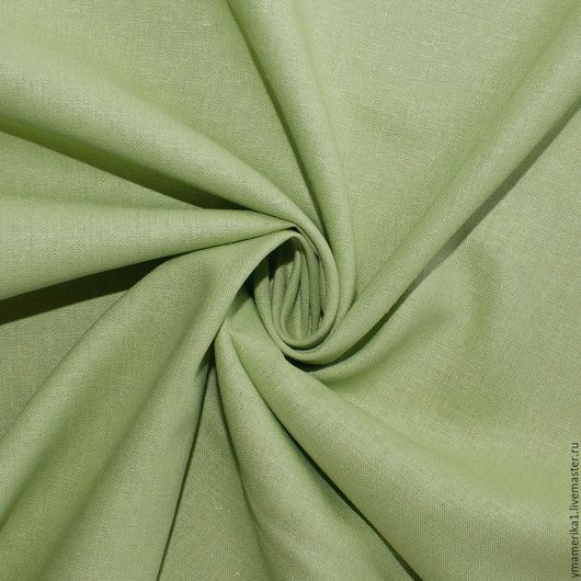 Шитье ручной работы. Ярмарка Мастеров - ручная работа. Купить Американский лен с вискозой  светло-зеленый. Handmade. Американские ткани
