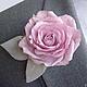 Броши ручной работы. Ярмарка Мастеров - ручная работа. Купить Заколка-Брошь Пыльная роза. Handmade. Бледно-розовый, брошь