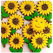 Сувениры и подарки handmade. Livemaster - original item Gingerbread Sunflowers.Gingerbread Birthday. Handmade.