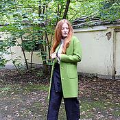 Одежда ручной работы. Ярмарка Мастеров - ручная работа Пальто маленькое xs/s на осень зиму яблоко зеленое осень Jonny Hi s. Handmade.