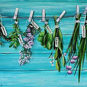 Картины и панно ручной работы. Ярмарка Мастеров - ручная работа Картина Итальянские травы. Handmade.