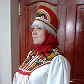 Одежда ручной работы. Ярмарка Мастеров - ручная работа Русский хороводный костюм. Handmade.