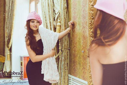 """Шляпы ручной работы. Ярмарка Мастеров - ручная работа. Купить Шляпка-клош """"Rose"""". Handmade. Розовый, шляпка клош"""