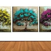 """Триптих """" Многоцветные деревья"""""""
